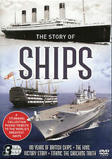 STORY OF SHIPS 3 DVD BOX SET TITANIC SHOCKING TRUTH, HMS VICTORY & 100 YEARS