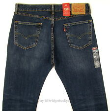 Levis 505 Jeans New Size 34 x 30 DARK BLUE STONE W/FADE Mens Straight Zip Levi's