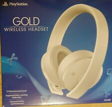 Sony PlayStation 4 Gold Wireless Headset PS4 White