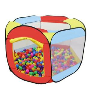 Play Tent Indoor Outdoor Easy Folding Kids Ball Pit Portable Pop Up Play Hut