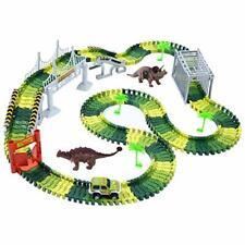 Dino Rennstrecke Kinderrennbahn Spielzeug Dinosaurier mehrfarbig unvollständig