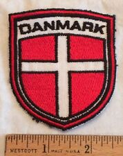 DANMARK Denmark Danish Red White Cross Souvenir Patch Badge