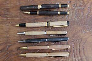 Lot of 7 Dayacom Wood Pens Ballpen W Germany