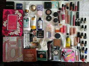 $600 Value - New Designer High End Woman's Luxury Makeup And Essential Items Lot