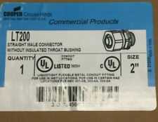 """Cooper Crouse-Hinds 2"""" Straight Male Connector w/o Insulated Throat Bushing"""