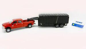 NEW 1:64 ERTL *RED* Dodge Ram Pickup Truck w/GRAIN TRAILER *DIECAST*