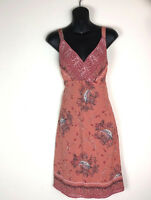 J.Jill Dress 6 Coral Paisley Sleeveless Summer Boho