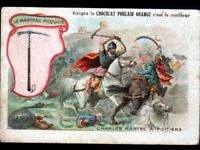 IMAGE CHROMO CHOCOLAT POULAIN / ARME Marteau de GUERRE Charles MARTEL à POITIERS