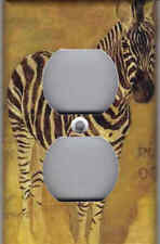 ZEBRA WITH AFRICA MAP HOME WALL DECOR OUTLET COVER