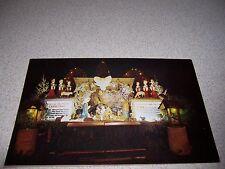 OUTDOOR CHRISTMAS MANGER ST. FRANCIS SERAPHIC SEMINARY ANDOVER MA. VTG POSTCARD