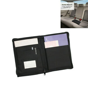 Car Glove Box Storage Organizer Multi Pockets Manuals Documents Holder Folder