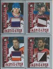 2013-14 ITG Enforcers II Instigator Jersey Red /10, Darren Langdon, Rangers