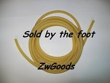 "1/4"" ID 3/8"" OD 1/16 wall Latex Tubing Surgical Rubber Tube Amber By The Foot"