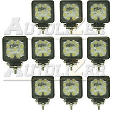 10pcs x 27W LED work flood square Light 12V 24V Off road Truck 4x4 Boat SUV lamp