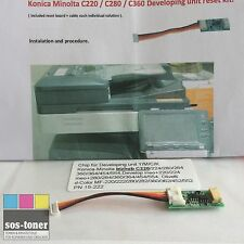 Reset-Chip Y/M/C/K Olivetti d-Color MF-220,222,254,280,282,304,360,362,454,554