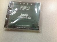 2004 Jeep WRANGLER Service Shop Workshop Repair Manual CD DVD NEW OEM Mopar