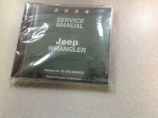 2004 Jeep WRANGLER Service Shop Workshop Repair Manual CD DVD NEW OEM Mopar