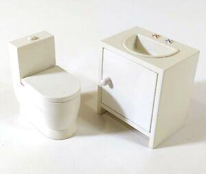 IKEA Maison de Poupées Meubles Salle de Bain Blanc O898