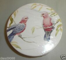 "HOME & GIFTS GALAHS  PORCELAIN COASTERS SET4  CW723G GIFT BOXED SIZE 4"" NEW"