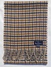 AQUASCUTUM SCARF 100% LAMBSWOOL FOR MEN AND WOMEN MADE IN ENGLAND BEIGE