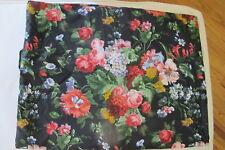"""Ralph Lauren """"Isadora Cossette"""" Black Floral Twin Bedskirt. New in Package."""