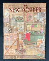 COVER ONLY ~ The New Yorker Magazine, December 21, 1987 ~ Jenni Oliver