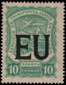 ✔️ COLOMBIA SCADTA 1923 - AIRPLANE USA CONSULAR - SC. CLEU51 ** MNH [SCLA589]