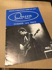 Queen Summer 1979 Official Fanclub Magazine
