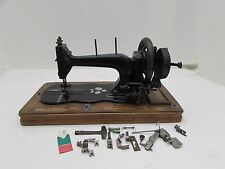 Antique Sewing Machine + Accessories Mother Of Pearl Inlay