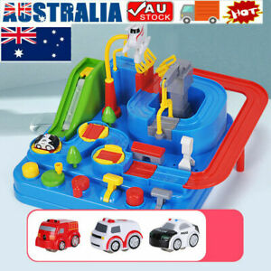 Car Adventure Game Rescue Squad Adventure Rail Model Racing Educational Toy Gift