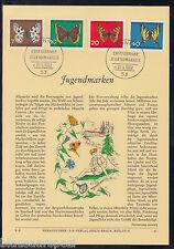 DE 97 ) BRD herrlicher Privat ETB 1962 - Jugendmarken Schmetterlinge
