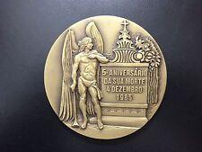FRANCISCO DE SÁ CARNEIRO / Bronze Medal by VASCO BERARDO / Large Medal / M68