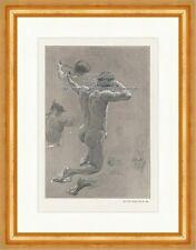 Bogenschütze Studie Otto Greiner Akt Lithographie Akt Skizzen Die Kunst 016