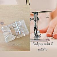 Pied machine,pied presseur, pied de biche pose perles, passepoil (5mm)