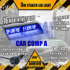 16 LED Emergency Dash Car Vehicle Hazard Windshield Warning Flash Strobe Blue A