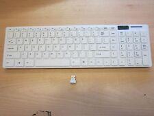 White Wireless USB Keyboard with Splashproof/Dirtproof Membrane for Laptop/PC