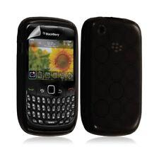 Housse coque étui en gel pour BlackBerry Curve 8520 motif cercle couleur noir tr