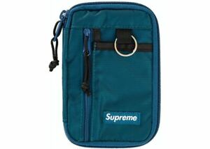 Supreme Wallet - Small Zip Pouch - FW19 - Dark Teal - New