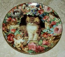Danbury Mint 1995 Picture Purrfect Plate Victoria Howard Victorian Cats Kitten