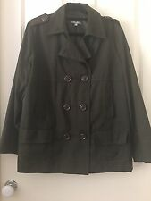 Yarra Trail  Coat Fully Lined Olive Green Size 16