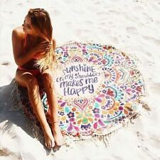 Bohemian Chiffon Super Light Sunshine On My Shoulder Round Beach Towel Mat