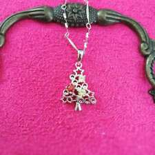 """Christmas tree Pendant necklace 18""""chain 925 Sterling Silver Love MOM Gift-#209"""