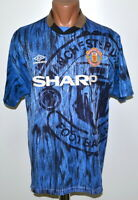 MANCHESTER UNITED 1992/1993 AWAY FOOTBALL SHIRT JERSEY UMBRO SIZE L ADULT