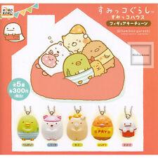San-X Corner Sumikko Gurashi Mini Figure Key Chain Set of 5 - Capsule Toy (24c82