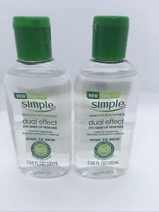 2 Simple Sensitive Skin Dual Effect Eye Makeup Remover 3.38 fl oz