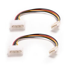 2Pcs 4Pin IDE ATA Power Supply to Floppy Drives Adapter Cable High Quality ME