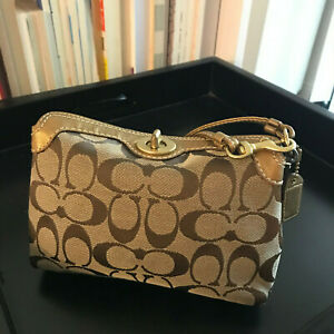 Coach Signature Small Wristlet Clutch (Beige) - Great Condition!