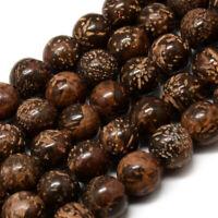 Starbust Jaspis Perlen Braun 6mm Kugel Strang Edelsteine Natursteine G616
