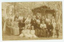Altes Foto Bild Portrait Gruppenfoto Hochzeit [608]