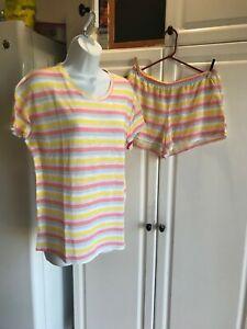 NEW Juniors 2-Piece Xhilaration PJ Size Medium Top Small Bottoms Pink+